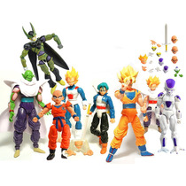 Kit C/ 8 Bonecos Dragon Ball Z Articulados - Goku Gohan Etc
