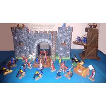 Juguete Castillo Medieval Fuerte Madera Pintado Niños Chicos
