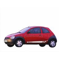 Faixa Lateral Ka Ford Laura Adesivos Tuning Sport Carro Novo