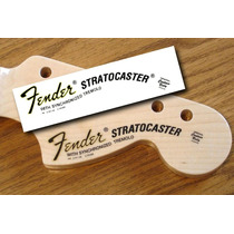 Stratocaster Waterslide - Utilizado Nos Adesivos Fender
