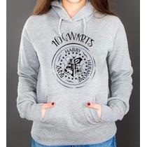 Blusa Moletom Hogwarts Harry Potter Canguru Com Capuz