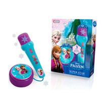 Juguete De Nena Tapimovil Dfz07893 Microfono Frozen