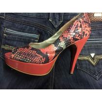 Zapatos Con Taco Y Plataforma