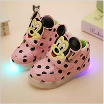 Tenis Luces Led Colores Niña Kitty Varios Colores Disponible