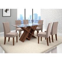 Conjunto Para Sala De Jantar Mesa E 6 Cadeira