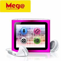 Mp4 Player 4gb Interno Dl Com Entrada Pra Micro Sd 32gb Rosa