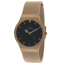 Reloj Toy Es Mesh Time Black Dial Gold Ip Stainless Steel -