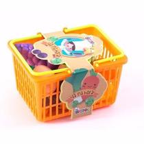 Cesta De Comidinhas Infantil - 18 Peças- Brinquedo Educativo