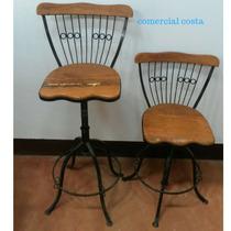 Cadeira Ferro Bistro Regulavel Peroba Rosa Demolicao
