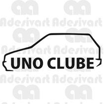 Adesivo Uno Clube Fiat Carro Clube Vidro Parabrisa