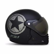 Capacete Moto Peels F21 Navy C/ 2 Viseiras Juntas Queixeira