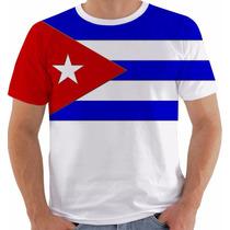 Camisa Camiseta Baby Look Regata Bandeira Cuba Fidel Che