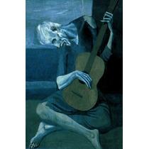 Homem Tocando Violão Guitarra De Picasso Grande Tela Repro