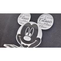 Souvenirs Mickey Minnie Acrilico Personalizados Cumpleaños