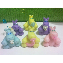 Hipopótamos Bebes Realizados En Porcelana Fria