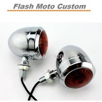Par Setas Mini Piscas Moto Cafe Racer Custom Bobber Chopper