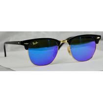 Lentes Rayban Clubmaster 3016 Tornasol Azul 100% Originales