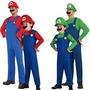 Fantasia Mario Bros Ou Luigi! Sob Medida Adulto E Infantil