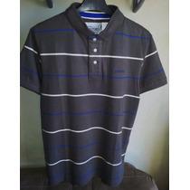 Camisa Polo Masculina Cinza Marca Famosa M.officer Tm P