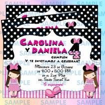 Invitaciones Minnie Mouse- Mimi-disney-invitaciones Niña