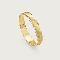Aliança De Noivado Ou Casamento Em Ouro 18k(750). Estilo Tr