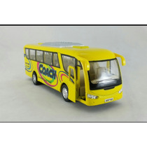 Miniatura Ônibus Metal Abre As Portas