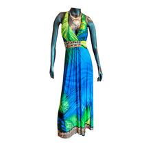 Vestido Largo Estampado Halter Adaptable Al Cuerpo Nofret