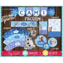 Kit Imprimible Frozen Disney Candy Bar