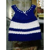 Vendo Lote De Hermosos Vestidos Tejidos Para Bebas.