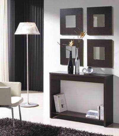 recibidor moderno minimalista con espejo