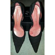 Zapatos Ricky Sarkany Talle 37 De Gamuza Negros Impecables!!