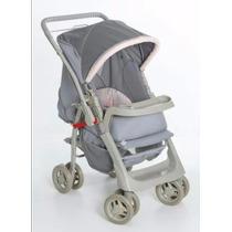 Carrinho De Bebê Reversível Galzerano Pegasus Cinza E Rosa