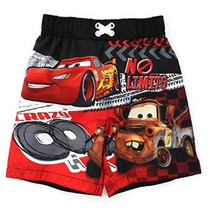 Disney Cars Chicos Negro Swim Trunks Traje De Baño