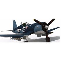 Avion Militar F4u-1a Corsair Para Armar En Papel +regalos