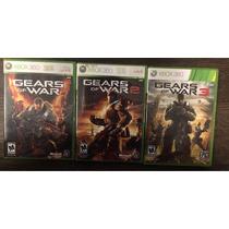 X Box 360 - Gears Of War 1, 2 E 3 - Jogos Originais E Usados