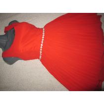 Hermoso Vestido Ina Fashion Rojo Dama Niña Diseño Princesa