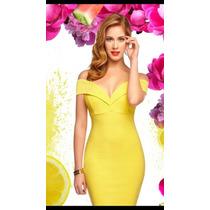 Oferta Vestido Cklass Amarillo Primavera Verano 2016 Nuevo
