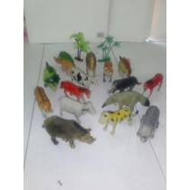 Set De Animales De Plastico 14 Pcs Con Accesorios