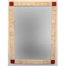 Espejo Crixus 60x80 Travertino Y Venecitas Vitrofusión