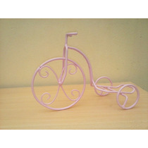 Centro De Mesa Bicicleta En Hierro Artesanal Vintage