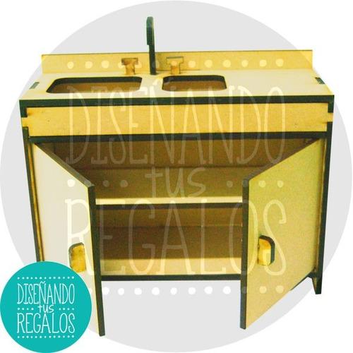 Muebles Muñecas Barbie Mdf Cocina Completo - Cod. Cmbs-007 - $ 318 ...