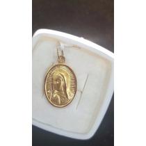 Medalla Con Rostro De La Virgen De Gpe Oro 18 K