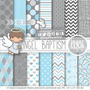 Kit Papel Scrapbook Digital Anjo Especial Batizado - Ml16