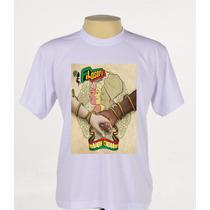 Camisa Camiseta Estampada Banda Filosofia Reggae Manga Curta