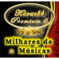 Karaoke Premium 5 - 10.000 Músicas / Dvd + Guia Impresso