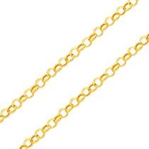 Corrente Cordão De Ouro 18k Feminina Elo Português 45cm Oca