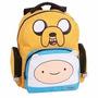 Mochila Escolar Adventure Time Jake Media - 2 Bolsos 19731