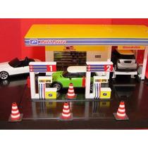 Mini Posto Combustivel Caminhão Carro Rampa Cone Tanque Show