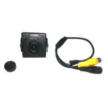 Mini Camera Colorida Monitoriamento 1/4 Sharp Ccd + Cabo