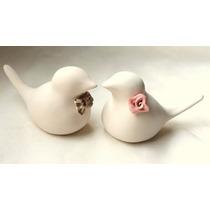 Topo De Bolo Casamento Porcelana Lovebirds, Pombinhos